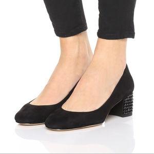 Michael Kors Arabaella Kitten BLACK Suede Shoes